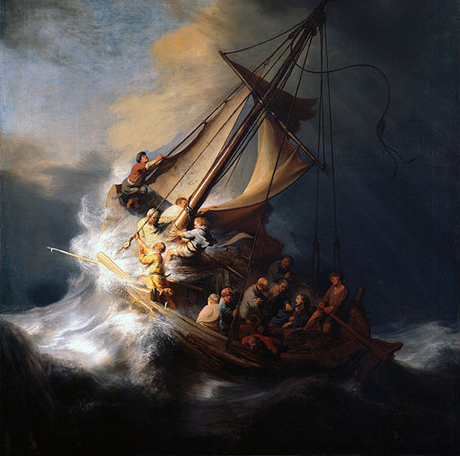 Rembrandt-Christ-in storm